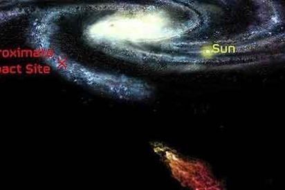 Una monstruosa nube de gas avanza a toda velocidad contra la Vía Láctea