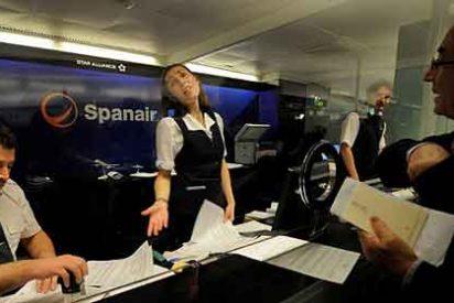 Spanair ingresa 1.000 € a cada trabajador por la última nómina
