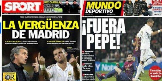 """El diario 'Sport' ahonda en la crisis blanca y publica """"la vergüenza de Madrid"""""""