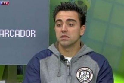 """Xavi, pillado 'in fraganti': """"Los jugadores del Madrid se han ido calientes. Son la hostia. No saben perder"""""""