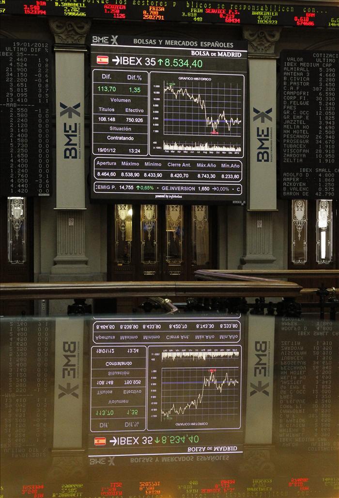 El IBEX cede el 0,30 por ciento pero mantiene los 8.700 puntos