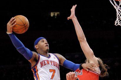 """Rose deja en crisis a """"Melo"""" y los Knicks; los Nuggets enfrían a los Clippers"""