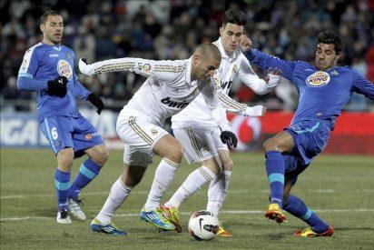 El Madrid conserva la ventaja de siete puntos tras superar el escollo del Getafe