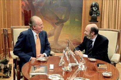 El rey recibe a Rubalcaba como secretario general del PSOE