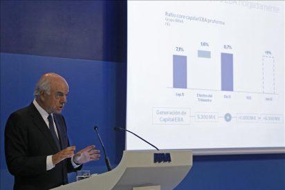 El BBVA prevé una caída de la economía del 1,3 por ciento para 2012 y un paro del 24,4 por ciento