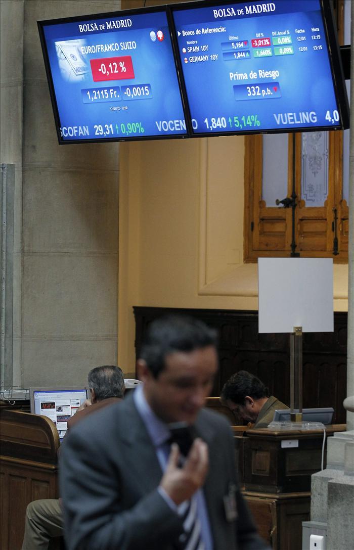 El IBEX cae el 0,79 por ciento por el nuevo retraso en el acuerdo sobre Grecia