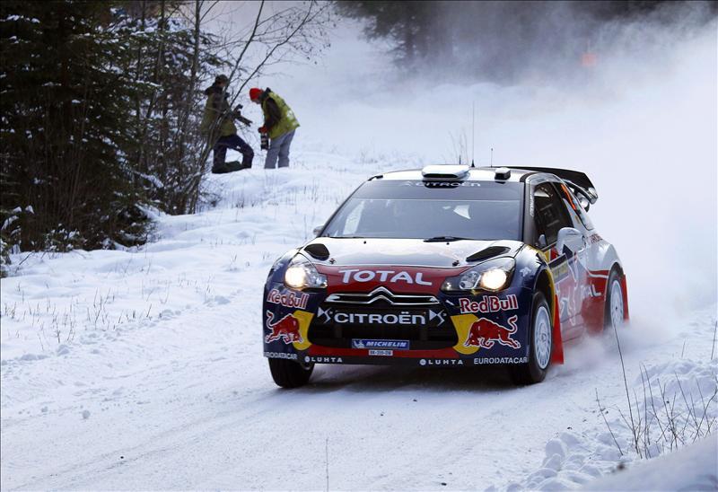 Hirvonen es líder del rally de Suecia en el ecuador del primer día