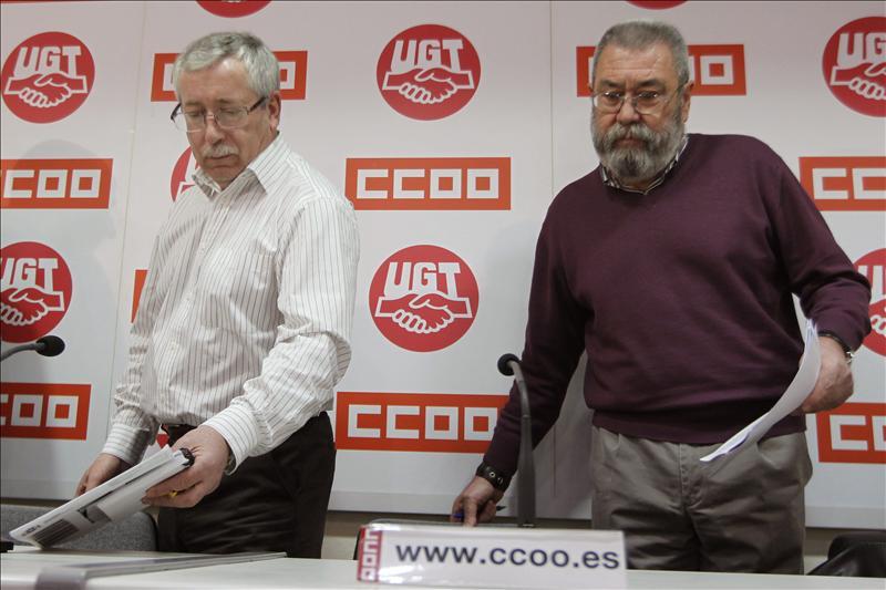 CCOO Y UGT dicen al Gobierno que todavía está a tiempo de rectificar