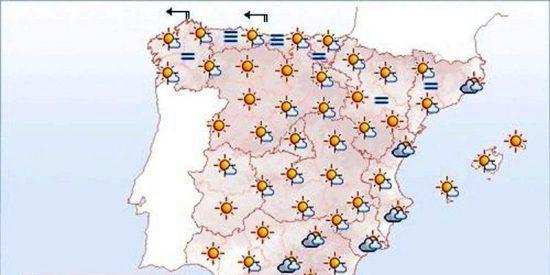 Lluvias débiles en Castilla-La Mancha y Andalucía