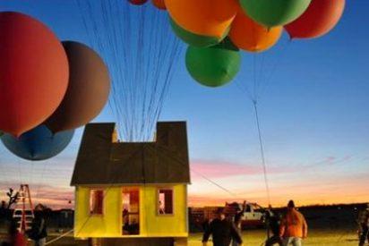 'National Geographic' estrena programa volando una casa con globos