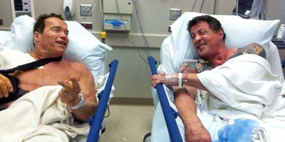 Schwarzenegger y Stallone, inseparables hasta en el hospital