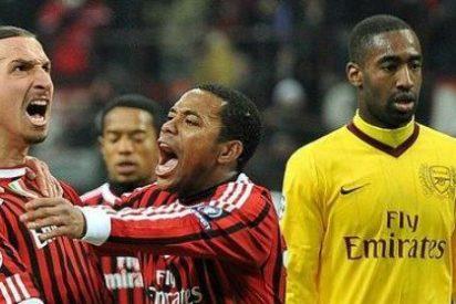 El Milán golea al Arsenal en la Champions League con un genial Ibrahimovic