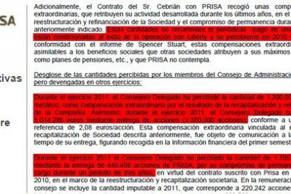 La entrada de Liberty en el capital de Prisa fue un negocio redondo para Cebrián: se embolsó 7,9 millones de euros por el éxito de la operación