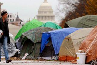 Desalojan a los activistas del campamento 'Occupy Washington'