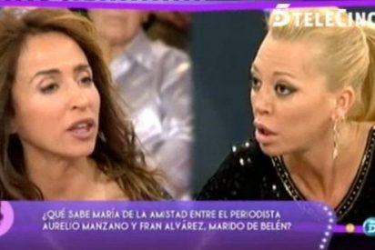 """Tenso, aunque decepcionante, cara a cara entre Belen Esteban y María Patiño: """"Tú no tienes ni puta idea de lo que ocurre con mi marido"""""""