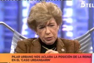 """Pilar Urbano levanta ampollas en 'La Noria': """"La Reina es lenta. Me dijo que Urdangarín es bueno, buenísimo"""""""