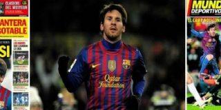 """'Sport' y 'Mundo Deportivo' cierran filas en torno a su crack: """"Con Messi al fin del mundo"""" y """"El mejor Messi"""""""