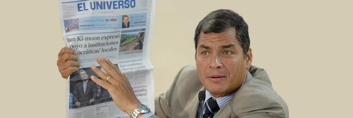 El ecuatoriano Correa aterroriza a los periodistas con multas y cárceles