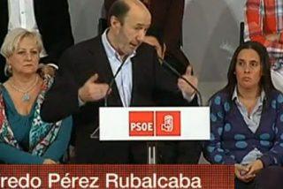 TVE sigue volcada con Rubalcaba: dedica siete veces más cobertura al PSOE que al PP