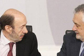 El PSOE se rompe en Andalucía por la guerra entre Rubalcaba y Griñán