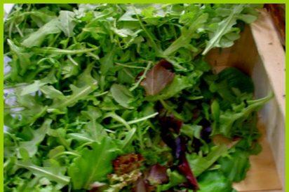 !Vitamínate! Prueba esa salutífera ensalada de soja, rúcula, zanahoria, patatas y nueces caramelizadas