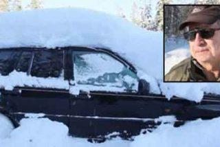Sobrevive dos meses sepultado bajo la nieve dentro de su coche