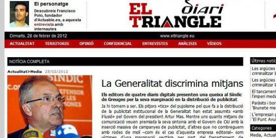 Editores de digitales catalanes exigen más dinero a la Generalidad