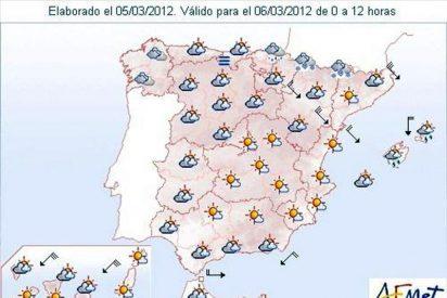 La Aemet prevé nevadas localmente moderadas en el Pirineo de Navarra