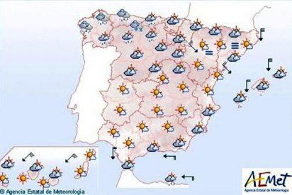 Viento fuerte en Canarias y posibles lluvias en Asturias y Galicia