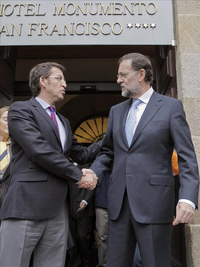 Rajoy recibirá a los presidentes de Galicia y Cantabria