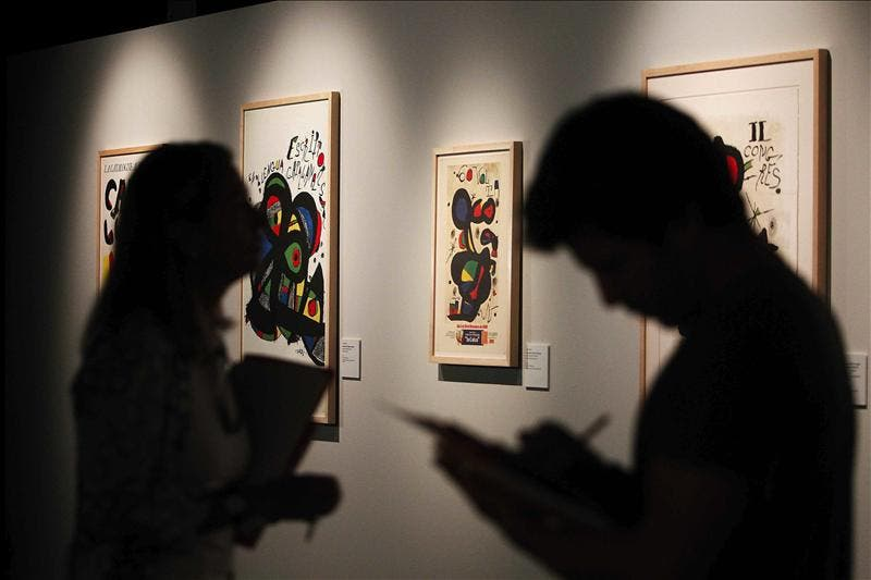 El lado más mediterráneo de Miró brilla desde hoy en Roma