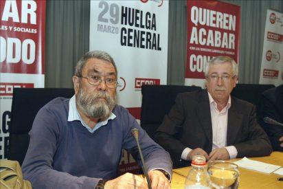 Toxo y Méndez presentan ante la autoridad laboral la convocatoria de huelga general