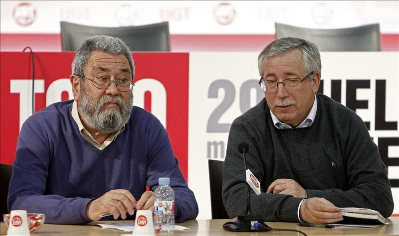 Méndez y Toxo intervendrán en Bilbao en un acto de llamamiento a la huelga general
