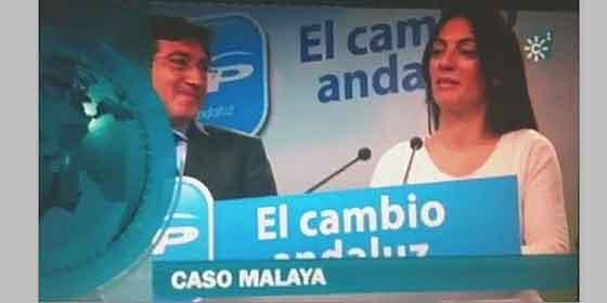 'Canal Sur' en campaña: Rótulo del Caso Malaya sobre portavoz del PP