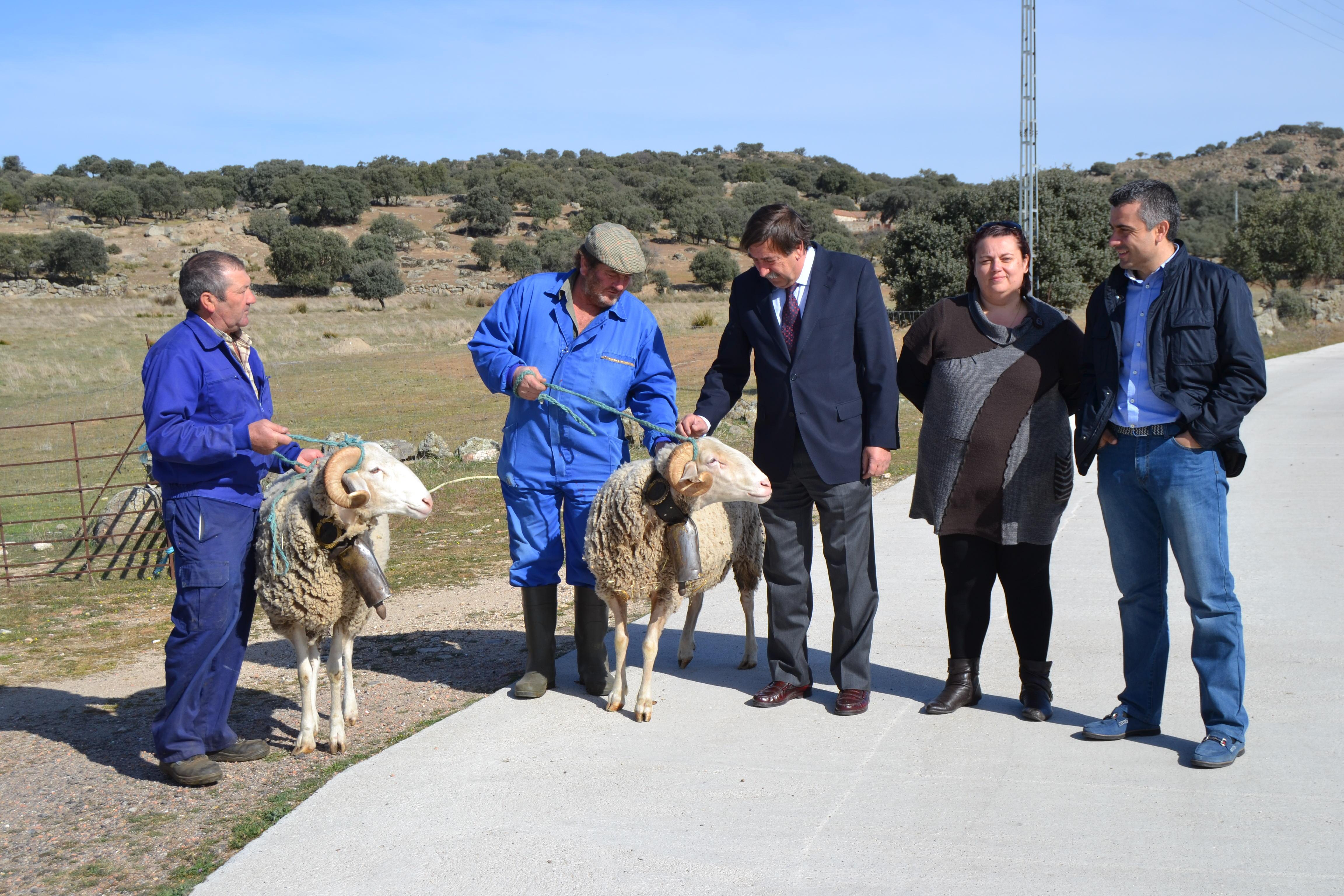 El acalde agradece a los ganaderos de Gamonal su trabajo en la preparación de los carneros de Mondas