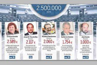 Las pensiones de los ex diputados nos cuestan este año 2,5 millones