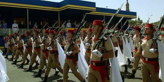 Movilización de los nacionalistas catalanes a favor del Ejército español
