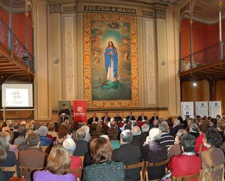 Cáritas Lleida presenta la Fundación Jaume Rubió i Rubió