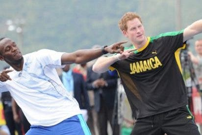 El príncipe Enrique desafía a Usain Bolt, el hombre más rápido del mundo