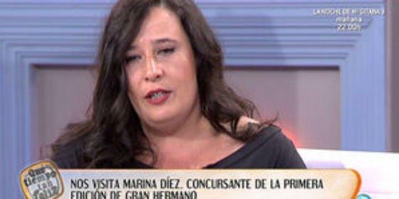 """Una destrozada Marina Díez ('GH1') confiesa que está en la ruina: """"Esto es un infierno y nadie me contrata por ser quien soy"""""""