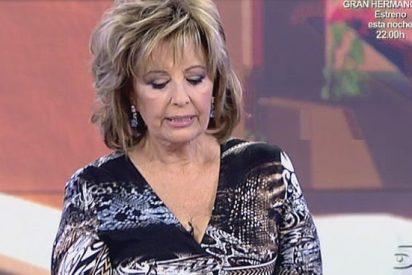 """María Teresa Campos vapulea a Jorge Javier Vázquez: """"¡Tú no eres quién para reírte de nadie con esa prepotencia"""""""