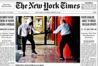 'The New York Times' destada en su portada la violencia de Barcelona