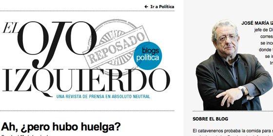 """José María Izquierdo (la SER) llama """"tropas de asalto"""" a los medios de derechas por hablar de fracaso de la huelga general"""