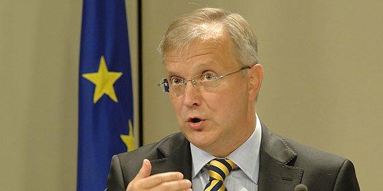 Rehn pide que España presente pronto sus planes fiscales