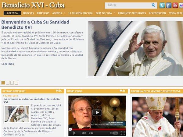 Cuba abre una web para el Papa