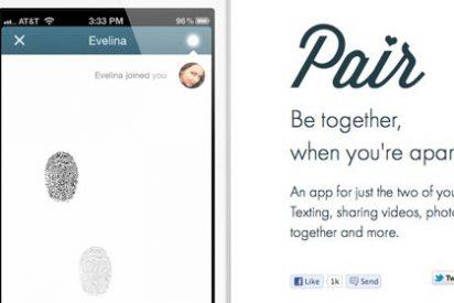 Una nueva aplicación inventa el beso dactilar al sincronizar dos huellas