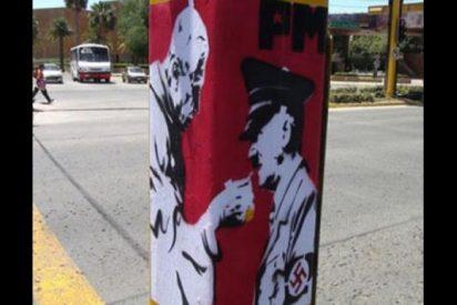 Aparecen en México montajes del Papa dándole la comunión a Hitler 