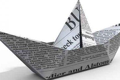 Los diarios de papel se desploman por segundo mes consecutivo