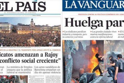 La prensa de izquierdas maquilla el fracaso de la huelga alentando a los camorristas