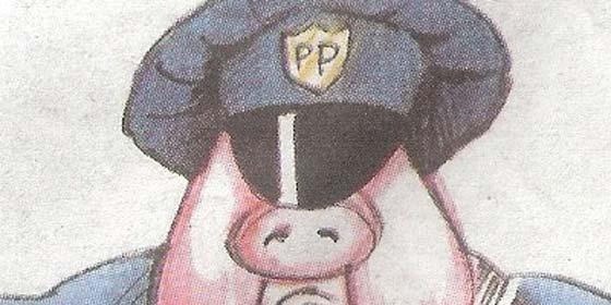 Para el diario nacionalista 'Punt Avui', el PP es un cerdo policía